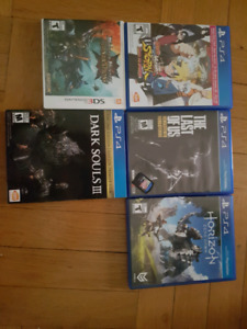 Selling PS4 games, 3DS games, PSVITA games