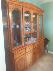 REDUCED Buffet, Hutch dining room table 4 chairs