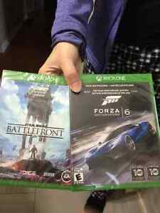 Forza 6 and Star Wars battlefront Xbox one (bran new unopened)