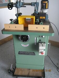 """GENERAL INTERNATIONAL 3/4"""" SPINDLE WOOD SHAPER WITH POWER FEEDER"""
