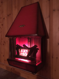 Vintage Red Electric Fire-place (Brooks Model 616H)