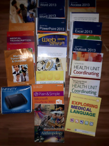 Textbooks. 1st  year office administration medical.
