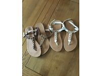 Two pairs of sandals. Size 7