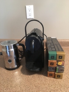 Nespresso Machine and Milk Frother and Coffees