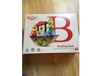 Hamleys Wooden Rocking Boat Boxed