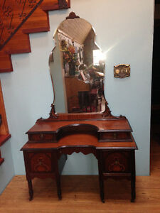 Antique Dressing Table w/ Mirror