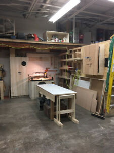 Woodshop Space For Rent - Part Time