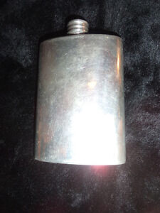 Pewter flask, made in Sheffield England.. RD