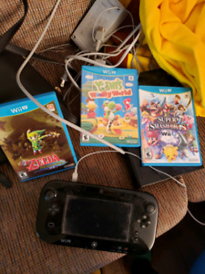 32 GB Nintendo Wii u with working controller and 3 games