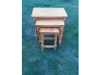 NEST OF SOLID PINE TABLES