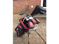 Full Hybrid Golf Set with Bag - Titanium Graphite Staffed Driver