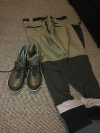 Fishing Wading trousers and boots