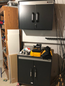 2 piece Black and Decker Tool and Storage Cabinets