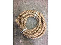 30mm natural Manila decking rope x 7 metres, brand new, decking