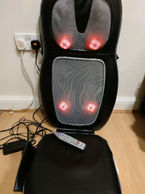 Homedics 2in1 shiatsu back and shoulder massager seat with heat