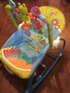exersauser and infant to toddler rocking chair