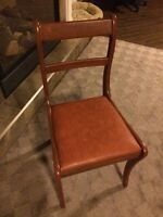 Antique Leather Cushioned Chair !!