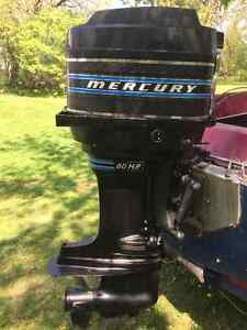 Mercury 80hp 4cyl pied long
