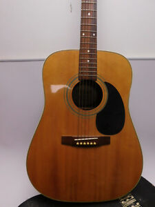 Vintage Vantage Va-20 Acoustic Guitar with a hard case