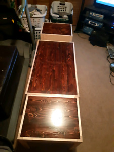 Coffee table an end table set