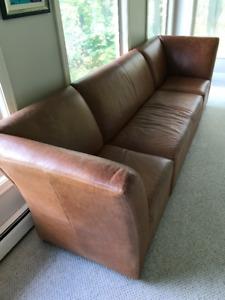Genuine Leather Designer Couch