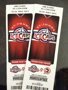 ICE CAPS TICKETS FOR TODAY! SUNDAY DEC.4th 4pm