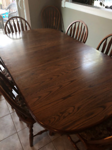 Solid Oak Table and Chairs