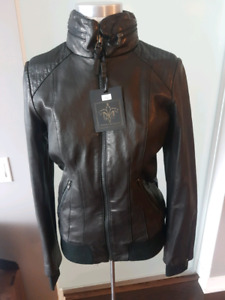 MACKAGE LADIES CONEY BRAND NEW WITH TAGS LEATHER JACKET MEDIUM