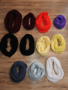 HANDMADE knitted infinity scarves - only $12 each!