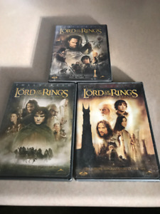LORD OF THE RINGS DVD's