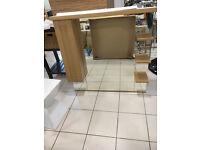 Roper Rhodes Natural Oak bathroom canopy mirror unit with lights and shaver socket