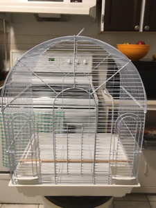 2 WHITE BIRD CAGES FOR SALE - GOOD CONDITION