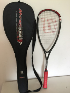 Wilson Hyper Hammer Carbon 160 Squash Racquet with cover