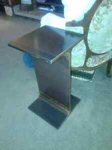 Metal I-Beam Induatrial End Table