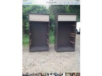 metal cabinets x2