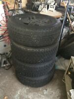 Winter tires on rims 245/70 R16 for sale