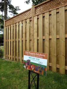 Fence, Deck and Landscaping