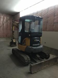 Excavator Komatsu Pc 35 mr 3.5 ton