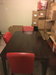 Dining Set (Table, 3 Chairs & Bench)