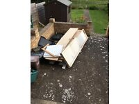 Old fitted wardrobe wood ,