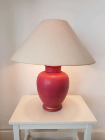 Marks and Spencer large pink table lamp