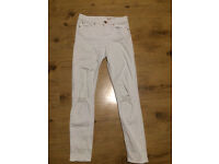 Asos white ripped jeans L26 W32 Woman's clothing.Approx size 8.