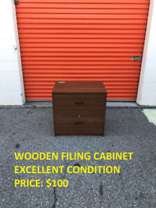 Wooden Filing Cabinet, Excellent Condition, Cheap Price!