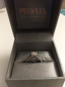 14 Karat White Gold Engagement Ring from People's