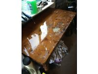 Pine kitchen table restoration project