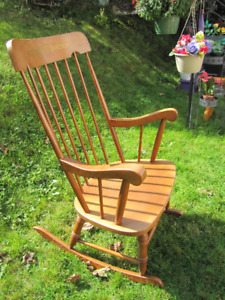 Maple Rocking chair with large seat