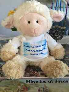 Beautiful Stuffed Lamb (New) Speaks Empowerment & Healing