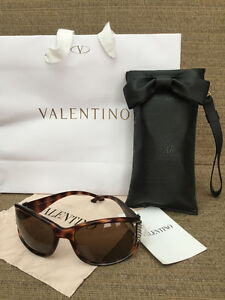 Authentic Valentino Sunglasses with Swarovski Crystals