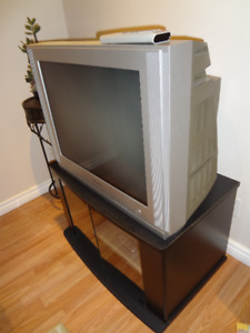 TV + TV Stand + DVD player, $20 O.B.O.