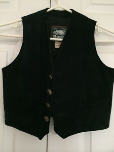 Roots Kids western black suede vest - Mint, newly condition